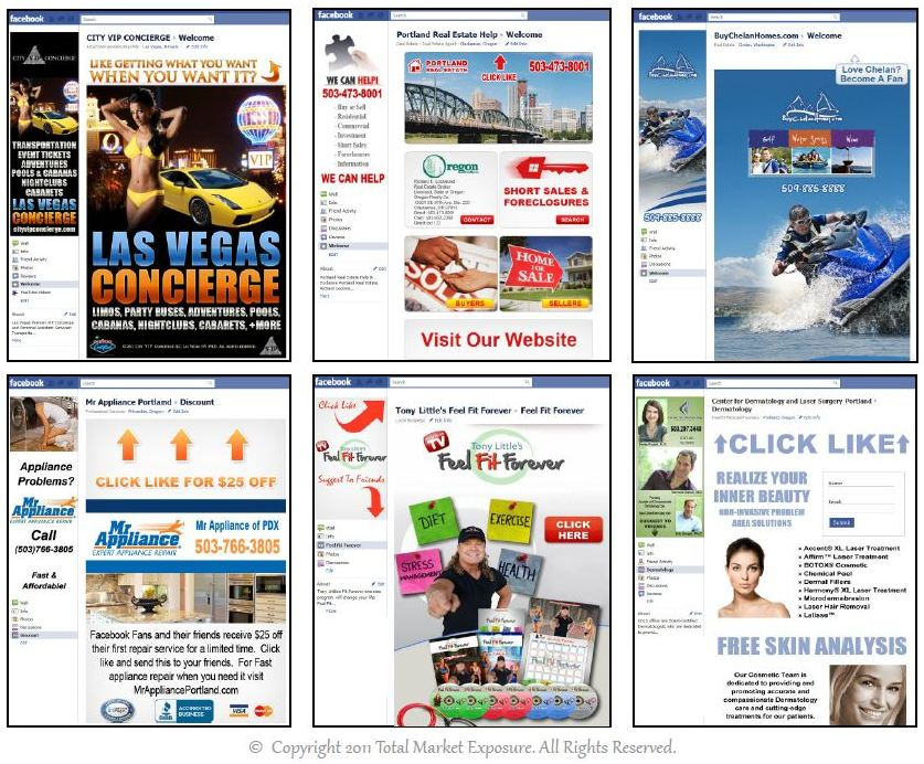 Facebook Landing Page Examples