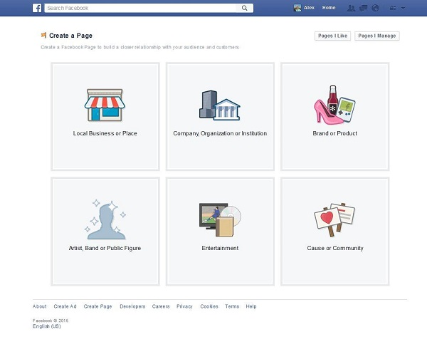 build facebook page for business