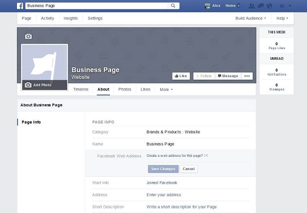 how to create a facebook business page 2015
