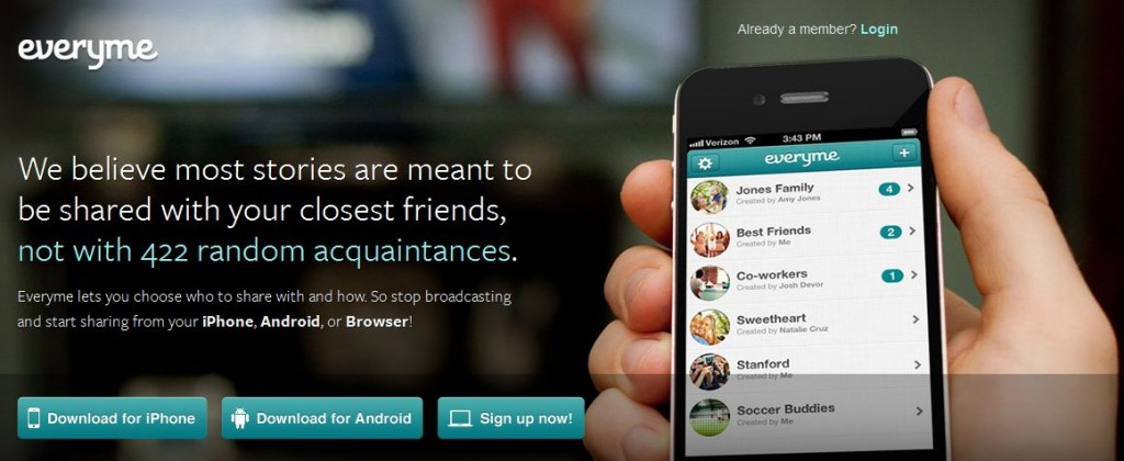 Everyme App For Iphone-Android-Web