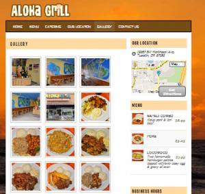 Aloha Grill Portland Restaurant Website Design