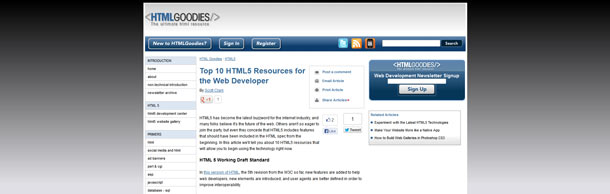 HTML5 Goodies