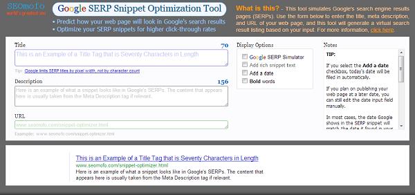 Google SERP Snippet Tool