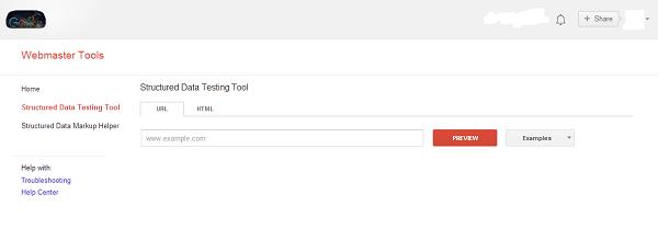 Google Structured Data Testing