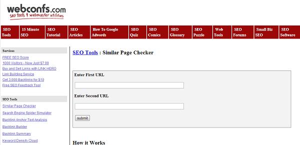 Similar Page Checker