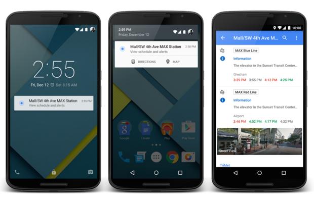 TriMet Bluetooth Beacons by Google Maps