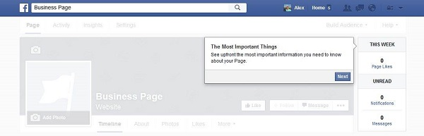 Facebook Business Page Updates