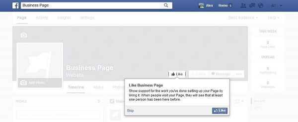 Like Facebook Business Page Tips