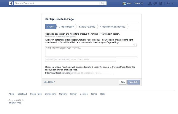 Set Up Facebook Business Page