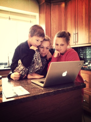 Family Watches Video Marketing Content