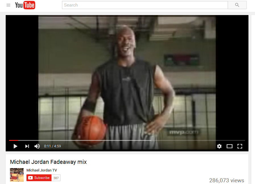 Michael Jordan Fadeaway Video